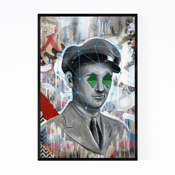 Noir Gallery Surrealist Soldier Painting Framed Art Print