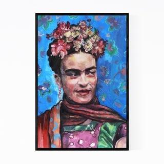 Noir Gallery Frida Kahlo Portrait Figurative Framed Art Print