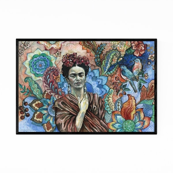 Noir Gallery Frida Kahlo Portrait Figurative Framed Art Print