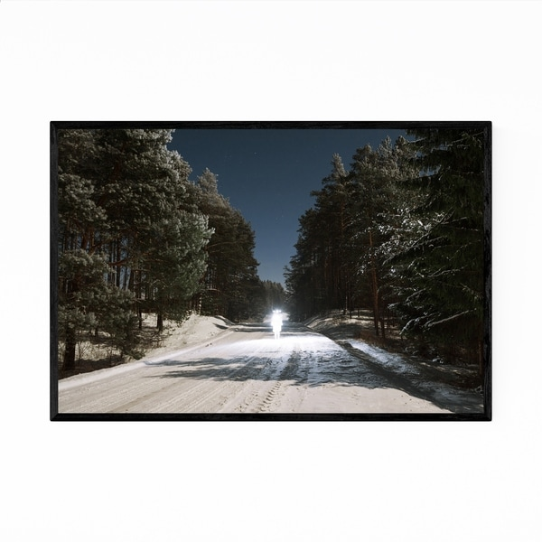 Noir Gallery Snow Winter Forest Landscape Framed Art Print