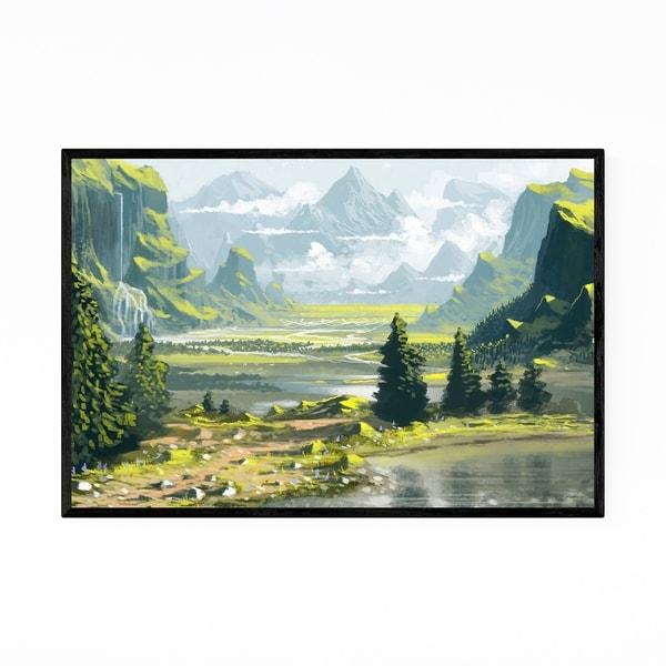 Noir Gallery Nature Landscape Digital Painting Framed Art Print
