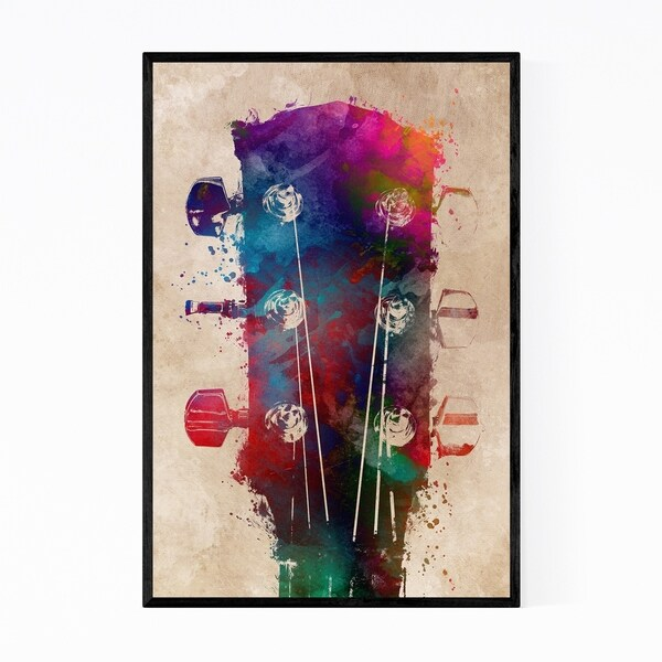 Noir Gallery Guitar Player Gift Music Framed Art Print