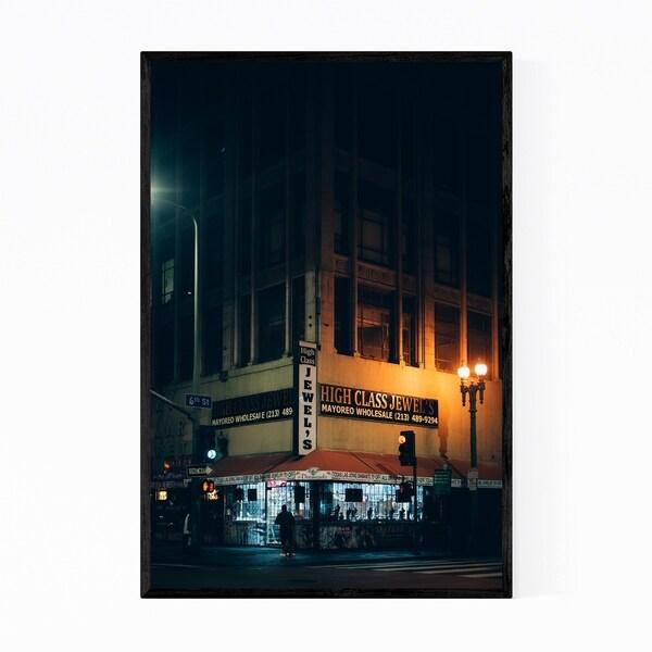 Noir Gallery Jewelry District Los Angeles City Framed Art Print