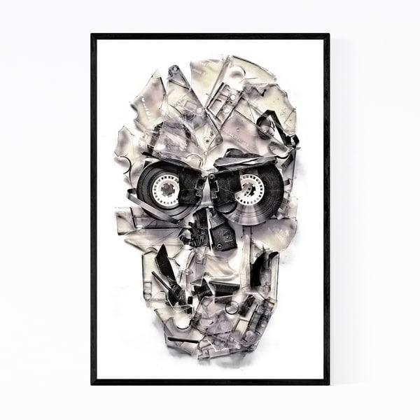 Noir Gallery Skull Creepy Cassette Tapes Framed Art Print