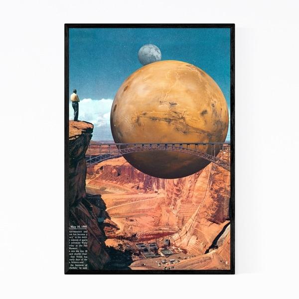 Noir Gallery Vintage Collage Astronomy Framed Art Print