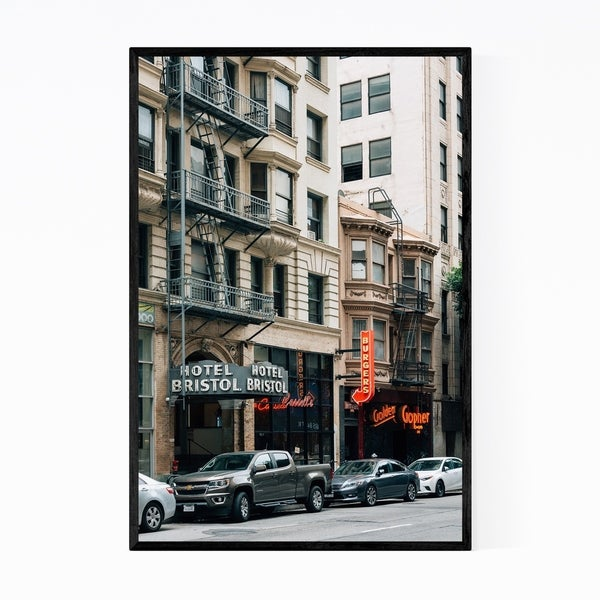 Noir Gallery Downtown Los Angeles Photography Framed Art Print