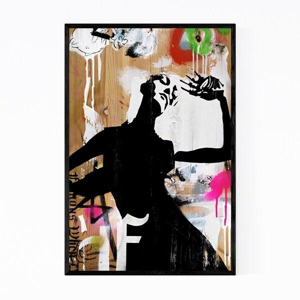 Noir Gallery Street Art Abstract Painting Framed Art Print