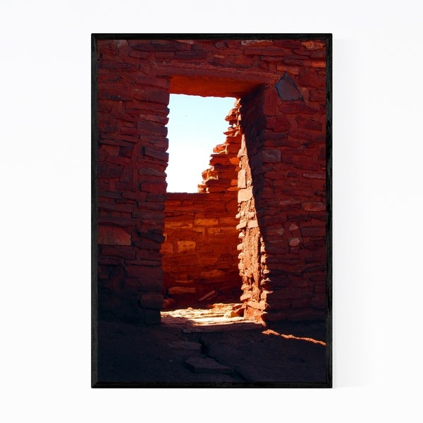 Noir Gallery Native American Ruins Arizona Framed Art Print