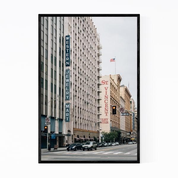 Noir Gallery Los Angeles Jewelry District Photo Framed Art Print