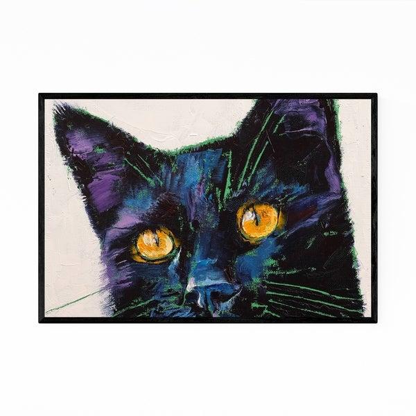 Noir Gallery Black Cat Pets Animal Painting Framed Art Print