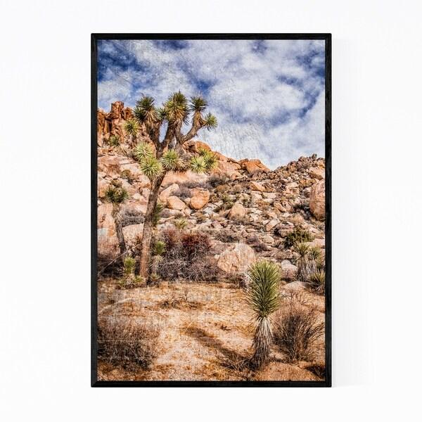Noir Gallery Joshua Tree Desert California Framed Art Print
