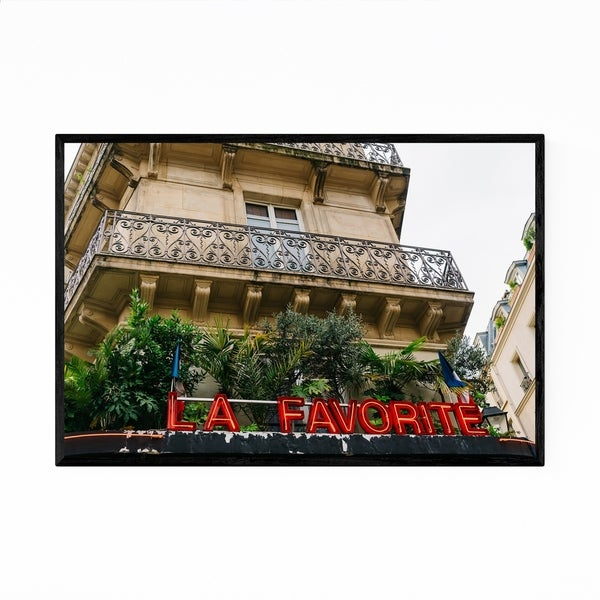 Noir Gallery Cafe Sign Paris France Photo Framed Art Print