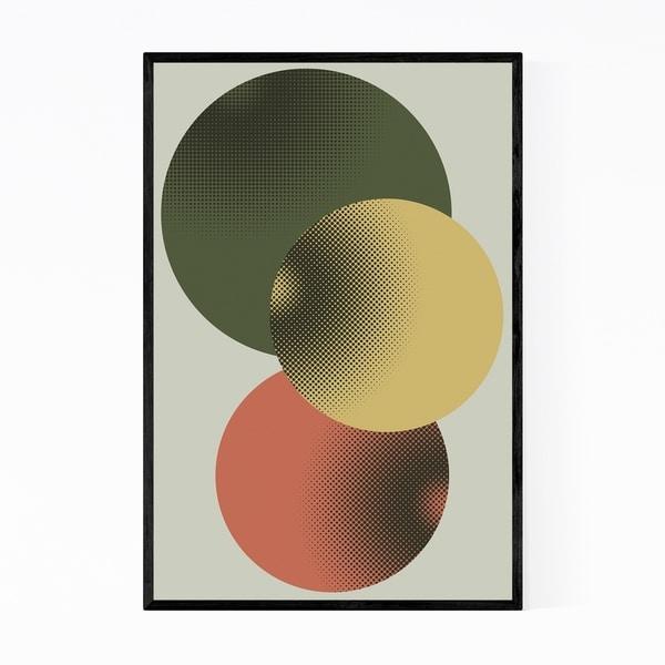 Noir Gallery Abstract Minimal Modern Geometry Framed Art Print