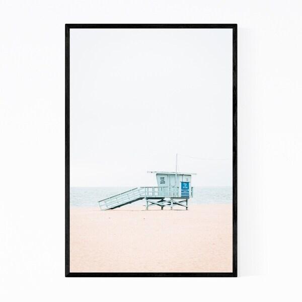 Noir Gallery Beach Santa Monica Los Angeles Framed Art Print