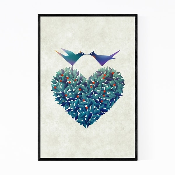 Noir Gallery Abstract Geometric Bird Nature Framed Art Print