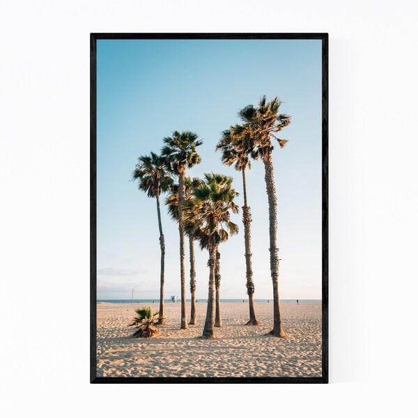 Noir Gallery Palm Trees Santa Monica California Framed Art Print