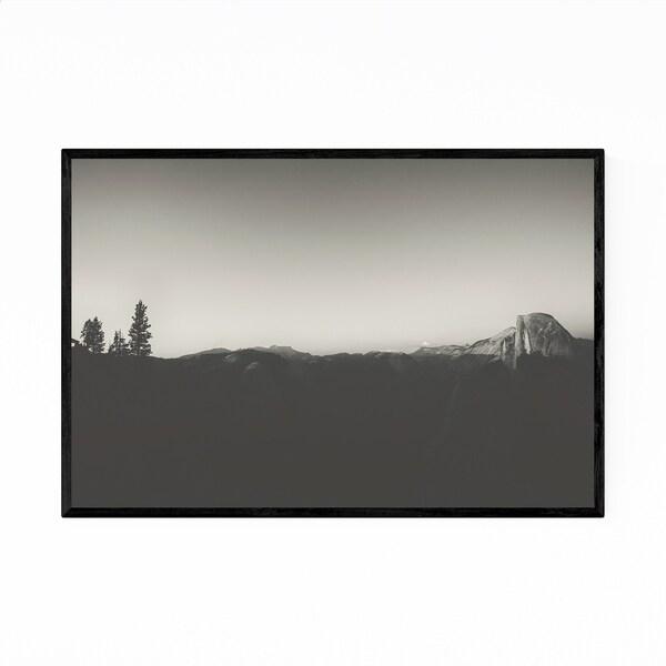 Noir Gallery Half Dome Black & White Yosemite Framed Art Print