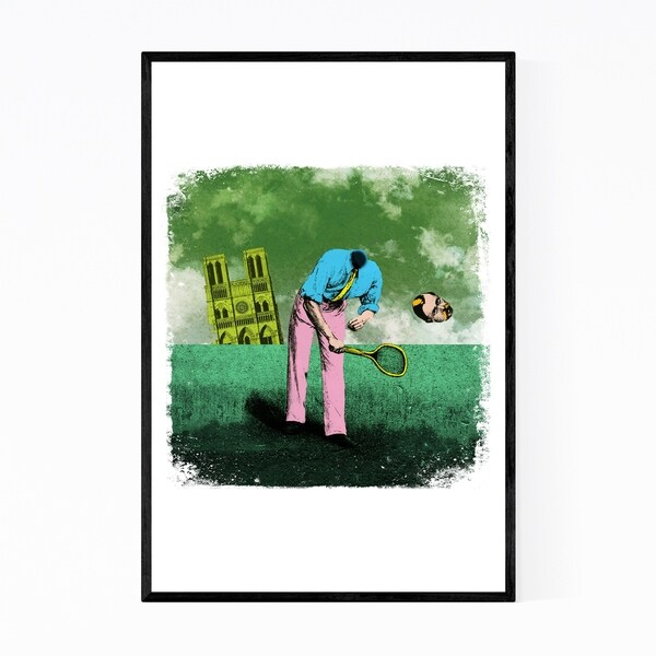 Noir Gallery Funny Surreal Tennis Sports Gift Framed Art Print