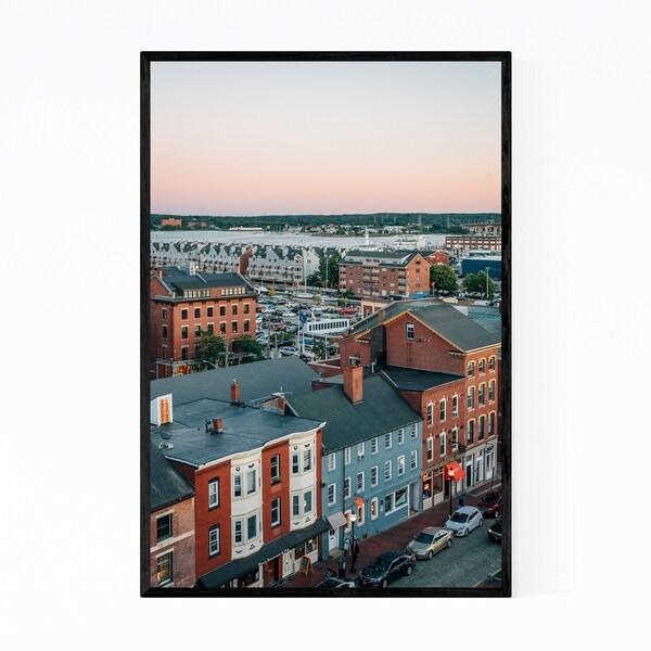 Noir Gallery Portland Maine Cityscape Photo Framed Art Print