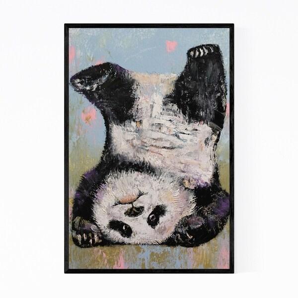 Noir Gallery Panda Bear Animal Painting Framed Art Print