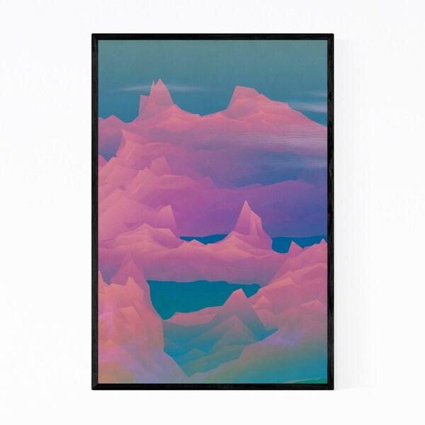 Noir Gallery Nature Geometric Mountains Framed Art Print