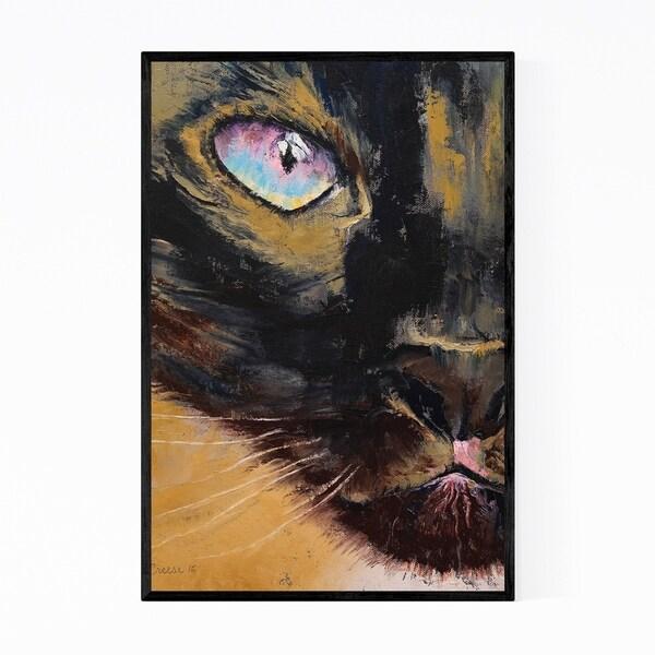 Noir Gallery Siamese Cat Animal Portrait Framed Art Print