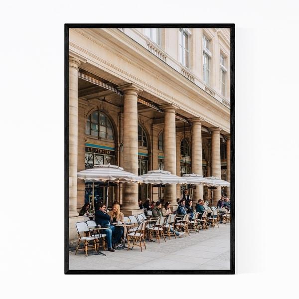 Noir Gallery Cafe Paris France Photography Framed Art Print