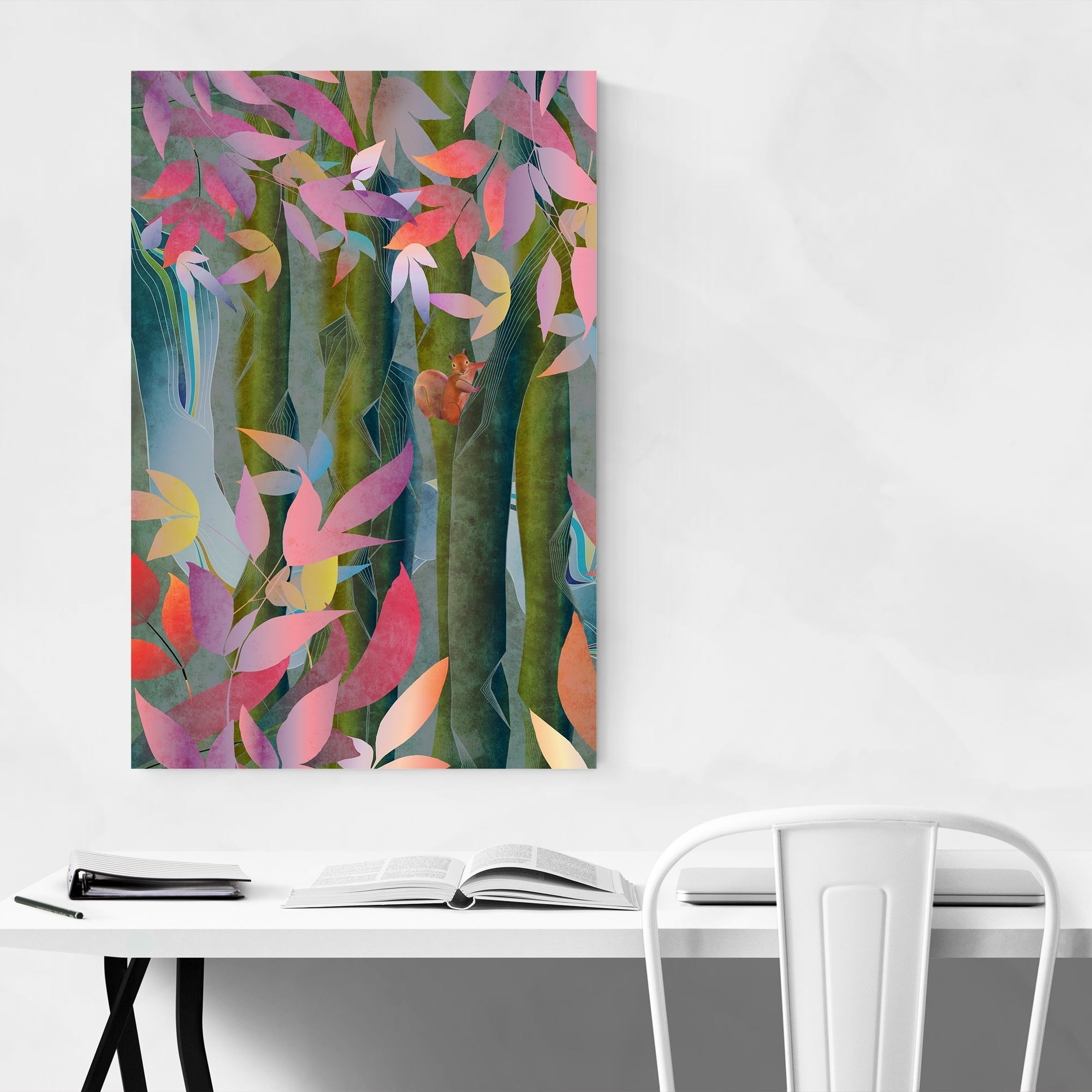 Noir Gallery Autumn Floral Botanical Nature Metal Wall Art Print Overstock 28724875