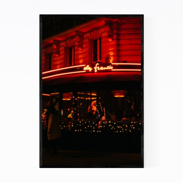 Noir Gallery Paris Bokeh Photography France Framed Art Print