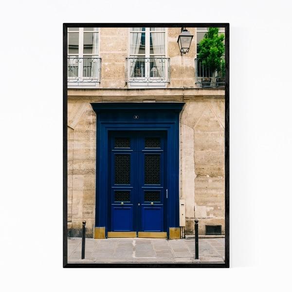 Noir Gallery Door Paris France Photography Framed Art Print