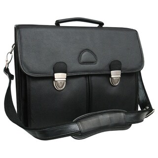 Amerileather World Class Black Leather Executive Briefcase