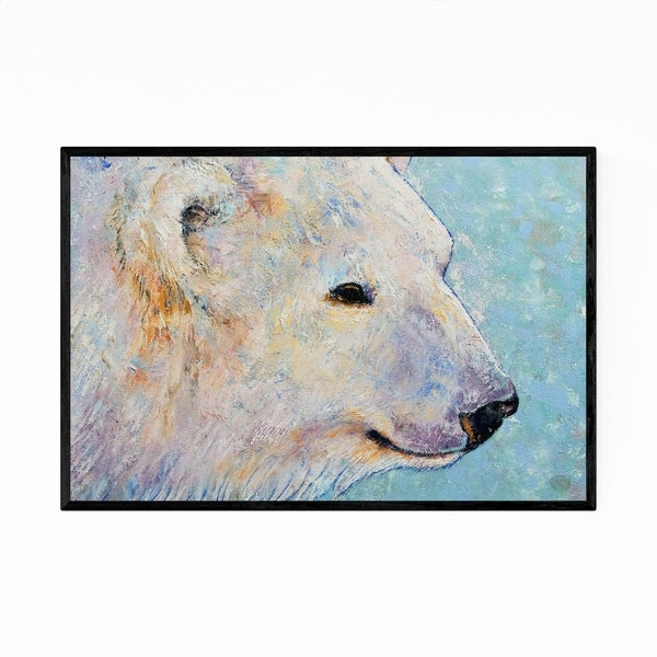 Noir Gallery Polar Bear Animal Painting Framed Art Print