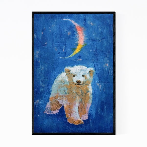 Noir Gallery Polar Bear Cub Animal Painting Framed Art Print