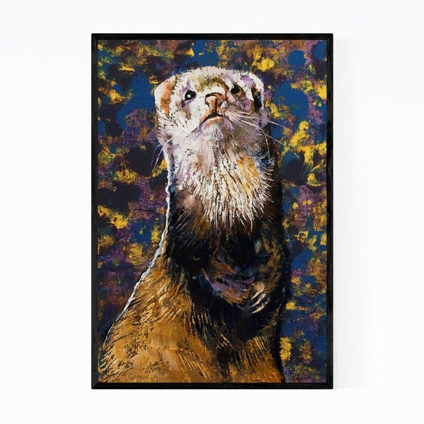 Noir Gallery Panda Ferre Animal Painting Framed Art Print