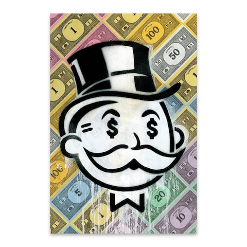 Noir Gallery Funny Monopoly Money Humor Metal Wall Art Print