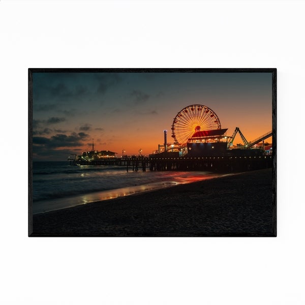 Noir Gallery Santa Monica Pier Los Angeles Framed Art Print