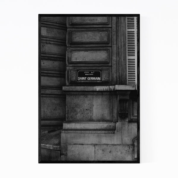 Noir Gallery Paris France Urban Photography Framed Art Print