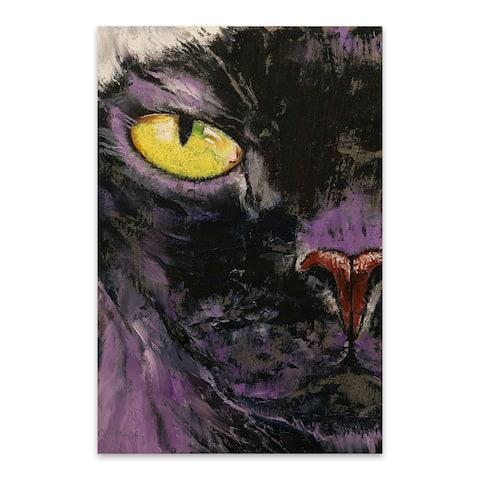 Noir Gallery Sphynx Cat Animal Painting Metal Wall Art Print