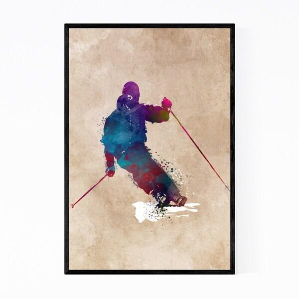 Noir Gallery Skiing Skier Gift Winter Sports Framed Art Print