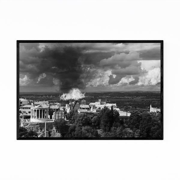 Noir Gallery Tivoli Italy Black & White Photo Framed Art Print