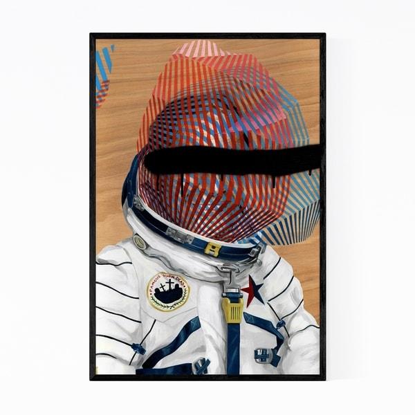 Noir Gallery Astronaut Spaceman Painting Framed Art Print