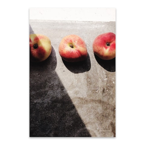 Noir Gallery Peaches Fruit Food Kitchen Gift Metal Wall Art Print