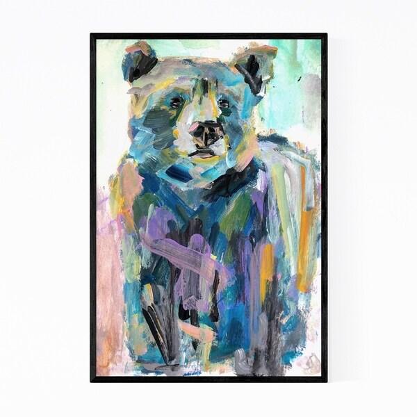 Noir Gallery Bear Animal Nature Painting Framed Art Print