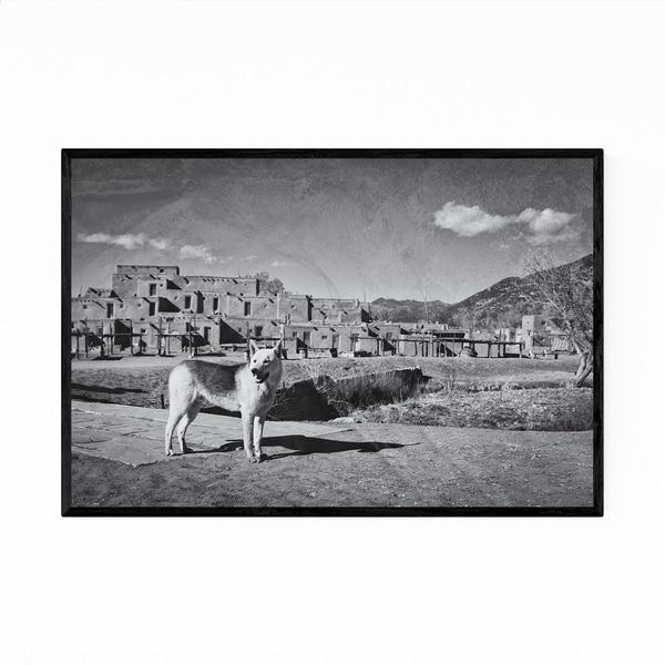Noir Gallery Dog Animal Taos New Mexico Framed Art Print