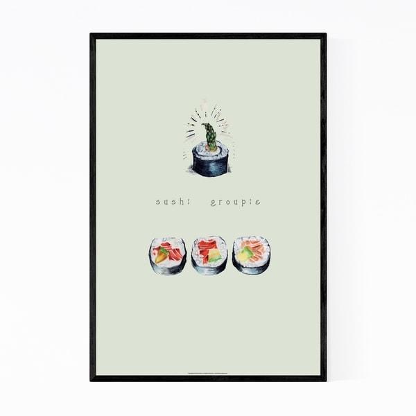Noir Gallery Sushi Japanese Food Kitchen Gift Framed Art Print