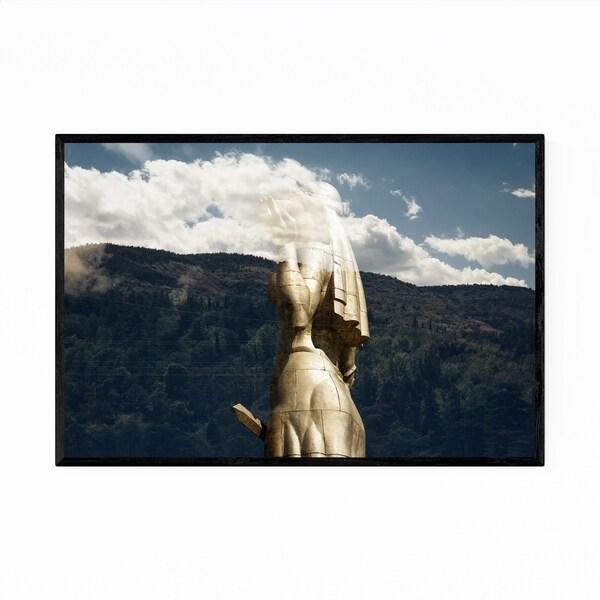 Noir Gallery Statue Landscape Nature Framed Art Print