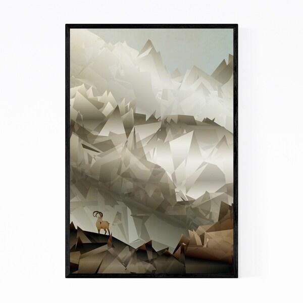 Noir Gallery Mountains Geometric Nature Framed Art Print