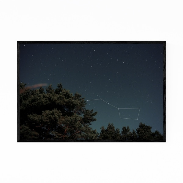 Noir Gallery The Great Bear Constellation Framed Art Print