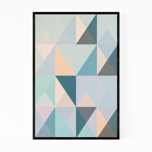 Noir Gallery Geometric Abstract Pattern Framed Art Print