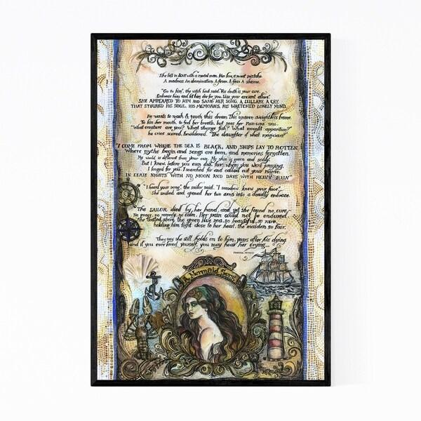 Noir Gallery Sailor Mermaid Fairytale Fantasy Framed Art Print